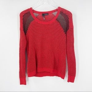 THE KOOPLES Red Striped Sweater Mesh Large Black